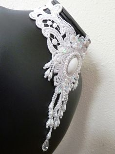 White Fatale Choker by Arthlin on Etsy, $38.00