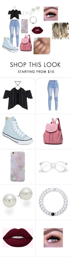 """School Casual"" by lauren-paul-sets ❤ liked on Polyvore featuring Converse, AK Anne Klein and Lokai"