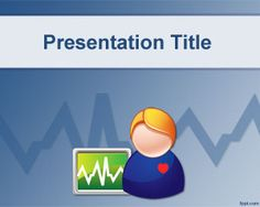 Health Monitor PowerPoint Template is a free medical template for health monitoring topics but can also be used for server monitoring or other non-medical issues | Medical PowerPoint Templates