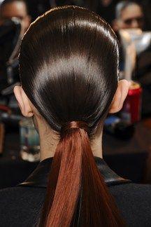 Autumn/Winter 2013-14 Alexander Wang #beauty #backstage #fashionweek #runway #hair #ponytail