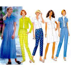 Butterick Sewing Pattern 5011 Misses' / Misses' Petite Dress, Top, Pants Size: 18-20-22 Uncut