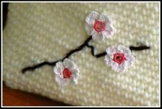 Cherry Blossoms by Chanda Kim: free pattern, so lovely! #crochet #spring #flowers