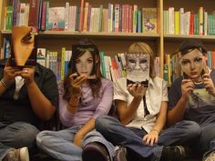 Face-book by ~joemamasdaddy.  Great picture...only wish they'd actually been reading the books!