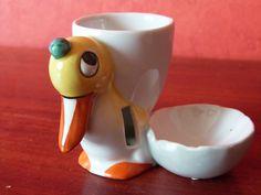 ANCIEN COQUETIER CANARD in Céramiques, verres, Céramiques, vaisselle déco, Coquetiers, dessous de plats | eBay