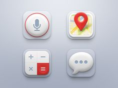 Record - Map - Calculator - Messages  Extra icons for the mini icon set.  Behance | Twitter | Instagram