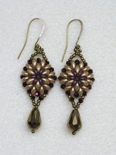 Oh Earring PDF Bead Weaving Tutorial (INSTANT DOWNLOAD)