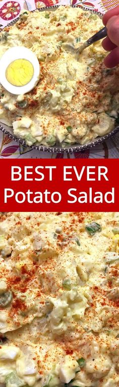 Truly the best ever! Everyone loves this easy potato salad! My mouth is watering! Easy Potato Salad With Eggs – Best Potato Salad Recipe Ever! Salli Valder salliva good food Truly the best ever! Everyone loves this easy potato salad! My mouth is wa Best Ever Potato Salad, Best Potato Salad Recipe, Easy Potato Salad, Potato Salad Recipes, Potato Salad Dressing, Pasta Salad Recipes, Yummy Recipes, Side Dish Recipes, Dinner Recipes
