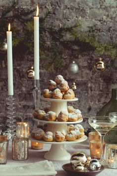 Deconstructed Croquembouche with Dulce de Leche Cream -- late afternoon winter tea.