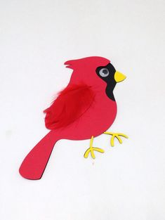 Red cardinal craft kit for kids by mimiscraftshack on Etsy, $1.50