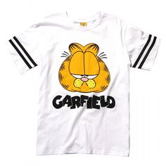 Visit your childhood memories with this Garfield Head Stripes T-Shirt at http://fusionswag.com/t-shirts/ #Garfield #streetfashion #urbanwear #streetwear #tees #tshirt