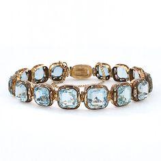 Antique Aquamarine Bracelet  - Lang Antiques