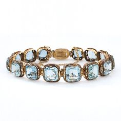 Antique Victorian Aquamarine and Gold Bracelet...  I typically don't care for expensive jewelry but OMG!