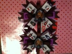 Brown and purple monster high hair bow...
