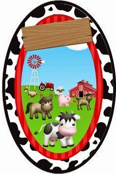 OLÁ AMIGAS! Apresentamos hoje para vc mais um lindo kit enviado pela nossa querida amiga Paula Fonseca. Convite Tag quadrada ... Farm Animal Party, Farm Party, Barn Parties, Western Parties, Farm Birthday, 2nd Birthday Parties, Baby Shawer, Cute Clipart, Farm Theme