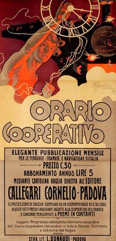 Orario Cooperativo (1899) by artist Adolfo Hohenstein