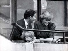 Rare pic of Charles, Diana, and Harry