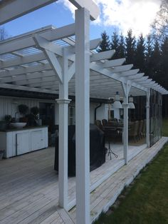 Pergola With Ceiling Fan Refferal: 3516022265 Pergola With Roof, Patio Roof, Pergola Patio, Backyard, Roof Window, Pergola Designs, Green Garden, Planter Boxes, Real Wood