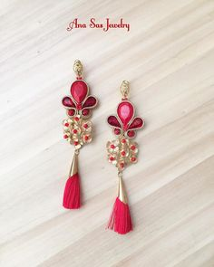"""3 aprecieri, 1 comentarii - Ana Sas (@anasasjewelry) pe Instagram: """"#soutache #earrings #anasasjewelry #statementjewelry #statementearrings #fattoamano #handmade…"""""""