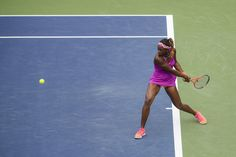 Love the color combinations!   Sloane Stephens returns to Mandy Minella on the opening day of the 2013 US Open.