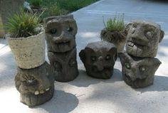 hypertufa garden statues