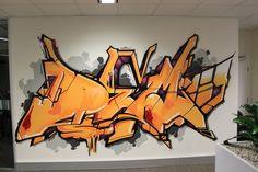 Office graffiti Graffiti Writing, Graffiti Wall Art, Graffiti Designs, Graffiti Tagging, Graffiti Alphabet, Graffiti Lettering, Street Art Graffiti, Font Art, Wildstyle
