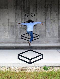 3D Street Art by Aakash Nihalani #streetart