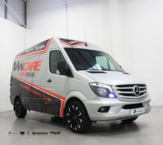 Leeds based VanCare recently had this Mercedes 318 Sprinter part wrapped with… Mercedes Bus, Mercedes Sprinter, Sprinter Van, Commercial Vehicle, Commercial Van, Leeds, Van Signage, Transporter Van, Motorhome