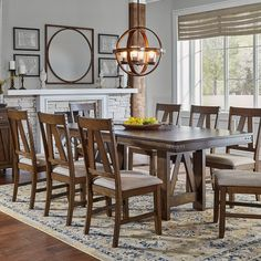 2e2045cd179c8 Eastwood Wood Rectangular Trestle Table in Rich Tobacco Breakfast Table  Setting