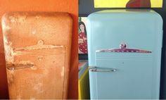 repurposing vintage fridge recuperação de frigorífico vintage