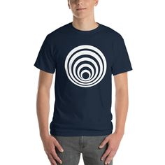 This t-shirt makes for a great staple! It has a classic fit (not form-fitting) with a thick cotton fabric. Shoulder Taping, Mens Tees, Fabric Weights, Cotton Fabric, How To Make, How To Wear, Model, T Shirt, Shopping