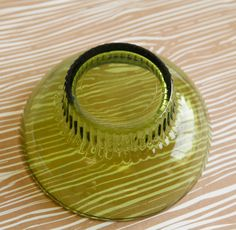 Olive Green Glass Vintage Bowl by OllyOxes on Etsy #GreenVintageBowl  @Olly Z. Z. Olly Oxen Free