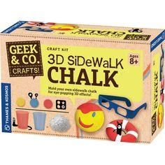 Thames & Kosmos Geek & Co. 3D Sidewalk Chalk | Bright Bean Toys