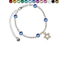 Open Gold Tone Star with Clear Crystals Custom Crystal Color Fiona Charm Bracelet ** Want to know more, click on the image. (This is an affiliate link and I receive a commission for the sales)