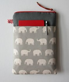 13 MacBook Air - Pro - Retina Case / Microsoft Surface / Laptop Case / Gadget Case / Laptop Bag / Elephants in Grey
