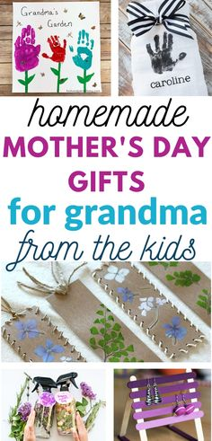 Are you looking for some amazing gifts your kids can make for grandma for Mother's Day? Here are 30 craft projects that are adorable and suitable for kids of all ages! Grandma will love getting these Diy Mother's Day Gifts For Grandma, Mother's Day For Grandma, Grandma Crafts, Homemade Mothers Day Gifts, Birthday Gifts For Grandma, Mothers Day Gifts From Daughter, Mothers Day Crafts For Kids, Diy Gifts For Kids, Mothers Day Cards