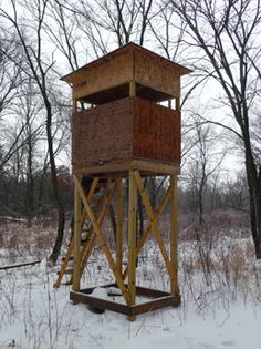 Easy tower brackets for the box blinds d hunting for Build your own deer stand