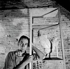 Robert Rauschenberg self-portrait, circa 1954. http://nymag.com/arts/art/features/rauschenberg-photographs-2011-9/
