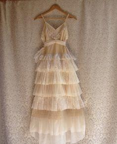 """Bella's Wedding"" Vintage Slip Dress Altered Fashion by Petticoat Pistol on Etsy...sold item..."