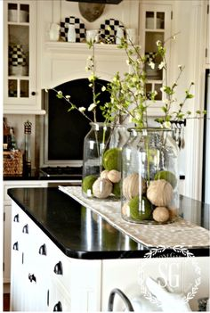 White Kitchen Soap Stone Counters She Uses Mineral Oil Once A Month To Keep The Table Decor EverydaySpring