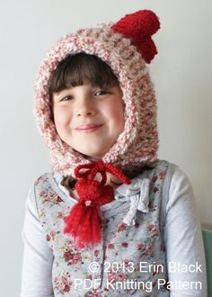 Knitting PATTERN Chunky Heart Pixie Hat in by ErinBlacksDesigns