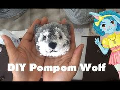 Diy Art Projects For Adults Pom Poms 22 Super Ideas Art Projects For Adults, Diy Art Projects, Sewing Projects, Pom Pom Crafts, Yarn Crafts, Crafts For Seniors, Crafts For Kids, Wolf Craft, Pom Pom Animals