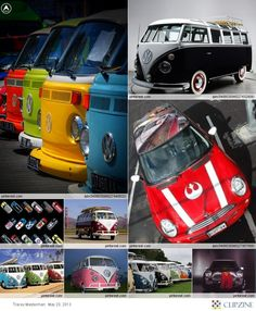 Minis and VW Camper vans