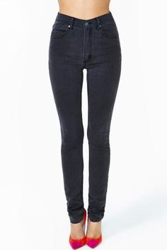 Cheap Monday Second Skin Jeans in Stonewash