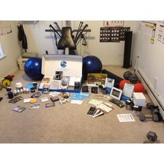 My workout room with all my workout programs... Great stuff! fitness-programs abs lose-wieght six-pack-abs fitness