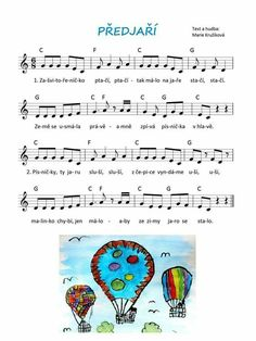 Předjaří – Marie Kružíková – MUZIKA VE ŠKOLE Music Lessons, My Teacher, Preschool, Songs, Diagram, Sheet Music, Carnavals, Kid Garden, Kindergarten