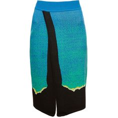 Alicemccall Natural landscape skirt (2 635 UAH) via Polyvore featuring skirts, blue skirt, alice mccall skirt, pencil skirt, knee length pencil skirt и blue pencil skirt