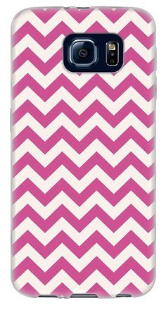 Amazon.com: {Chevron Zigzag Stripes} Soft and Smooth Silicone Cute 3D Fitted Bumper Back Cover Gel Case for Samsung Galaxy S6 {Color is Basic White and Magenta Pink}: Cell Phones & Accessories