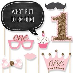 1st Birthday Girl - Fun to be One - Photo Booth Props Kit - 20 Count Big Dot of Happiness http://www.amazon.com/dp/B00VTUQUTA/ref=cm_sw_r_pi_dp_6718vb1V4ZQZ5