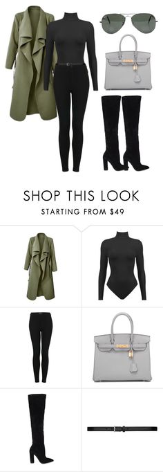 """""""Untitled #382"""" by hallierosedale ❤ liked on Polyvore featuring Topshop, Hermès, ALDO, Ray-Ban and Yves Saint Laurent"""