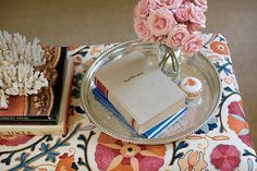 vignette, textile pattern + tray | Domino magazine